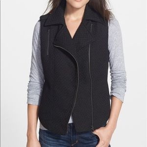 Jessica Simpson Tweed Moto vest